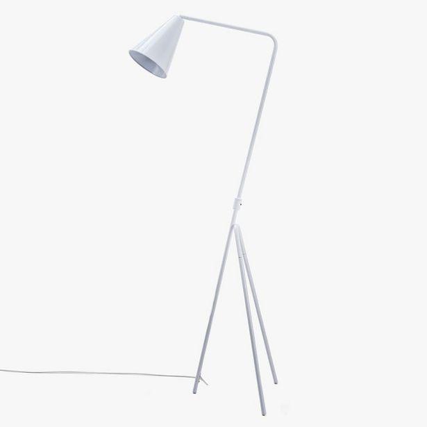 Oferta de Lámpara de Pie Retro Trípode Blanco por 69,99€