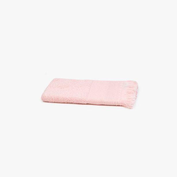 Oferta de Toalla de Baño con Flecos Rosa 30x50 cm por 1,99€