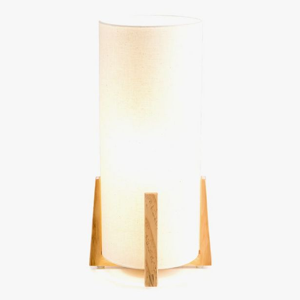 Oferta de Lámpara de Mesa Hideki Beige por 59,99€