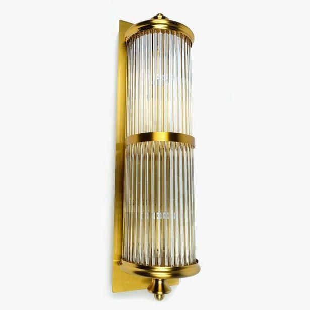 Oferta de Aplique de pared Vidrio Oro 52 cm por 79,99€