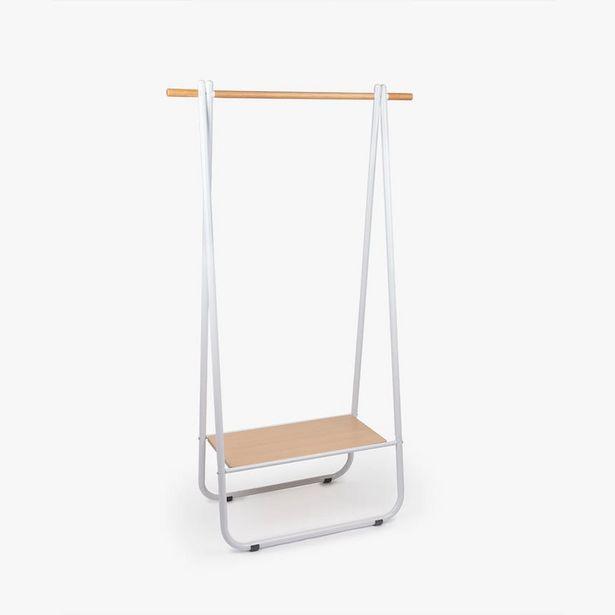 Oferta de Estantería Charriot Blanco 90x41x156 cm por 69,99€