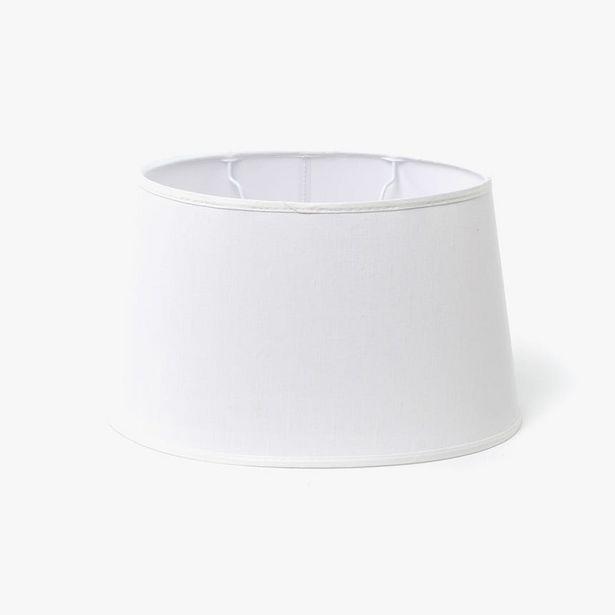 Oferta de Pantalla Oval Seda Blanco D: 33cm por 14,99€