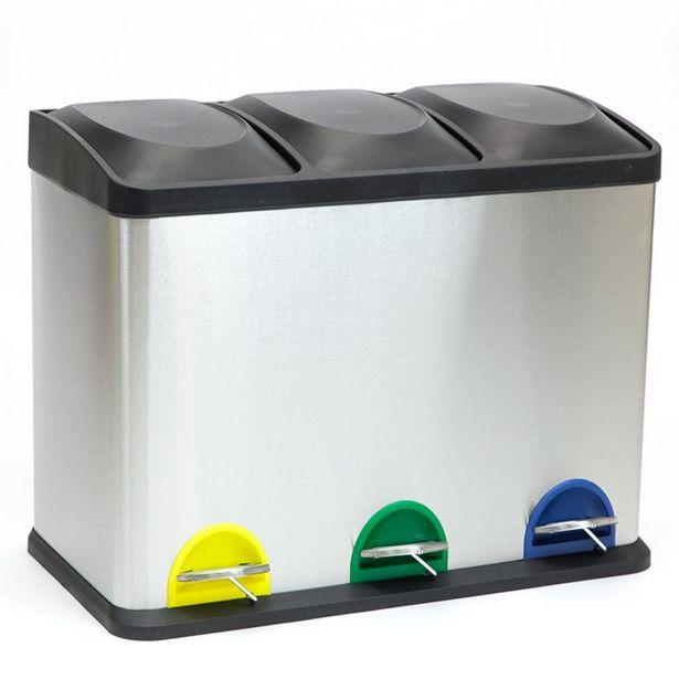 Oferta de Cubo de basura Reciclaje 3x15Lt por 55,99€