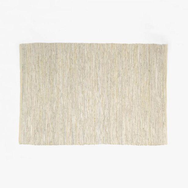 Oferta de Alfombra Tear Piel Beige 140x200 cm por 59,95€