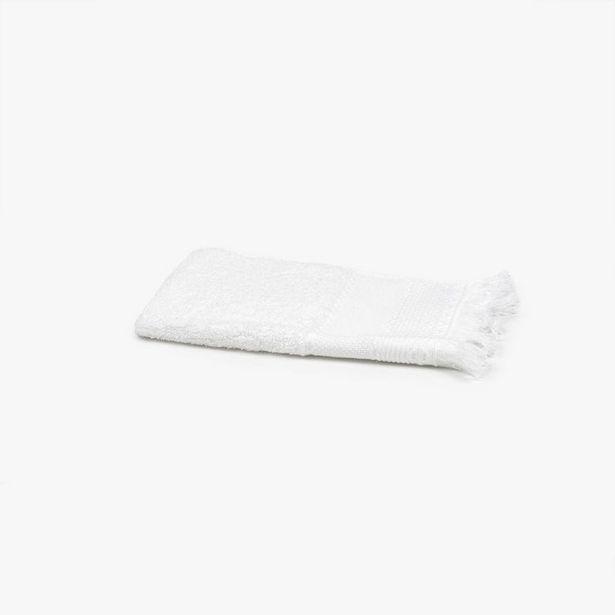 Oferta de Toalla de Baño con Flecos Blanco 30x50 cm por 1,99€