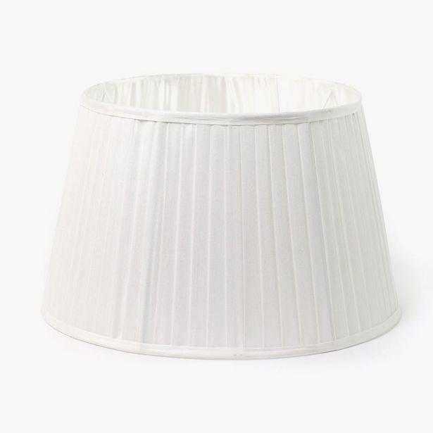 Oferta de Pantalla Drum B Seda Blanco D: 45cm por 30,36€