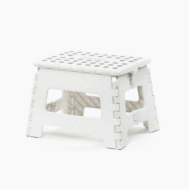 Oferta de Taburete Blanco 29x22x22 cm por 6,99€