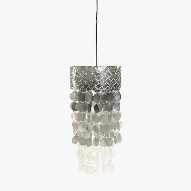 Oferta de Lámpara de Techo Conchas Plata 31 cm por 79,99€