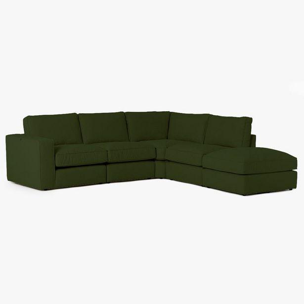 Oferta de Sofá de esquina Roberts Verde 265x247x80 cm por 1799€