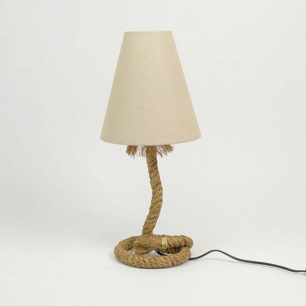 Oferta de Lámpara de Mesa Cuerda Base Redonda por 47,99€