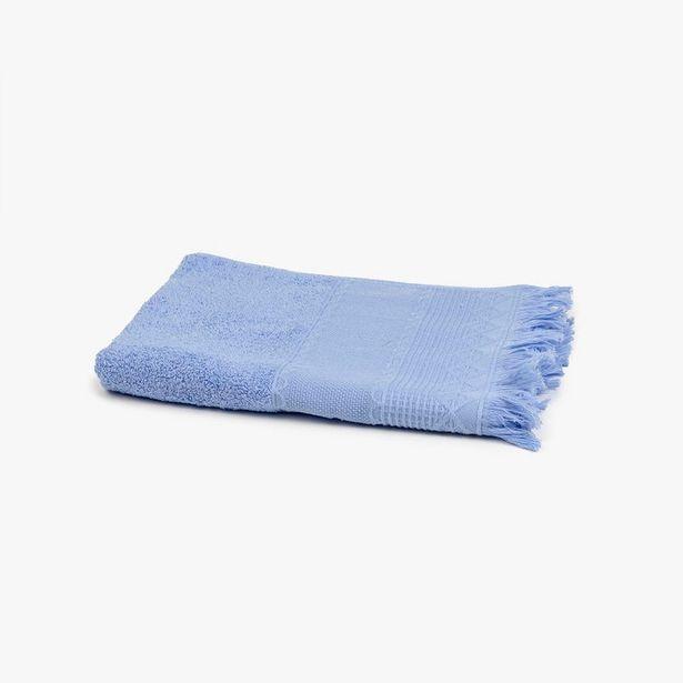 Oferta de Toalla de Baño con Flecos Azul 50x100 cm por 5,99€