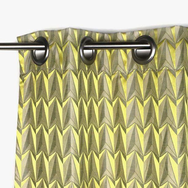 Oferta de Cortina Laki Geométrico Amarillo 130x270 cm por 67,99€