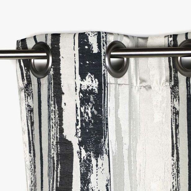 Oferta de Cortina Laki Negro 130x270 cm por 67,99€