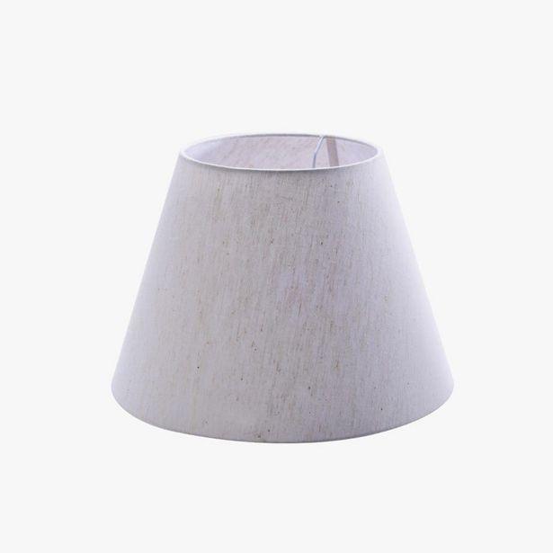 Oferta de Pantalla Slub Blanco 35x24 cm por 22,99€