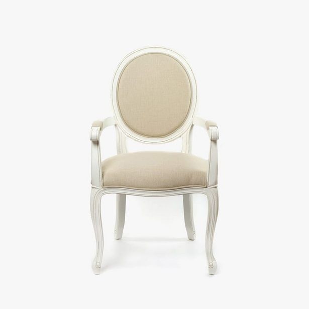 Oferta de Silla con Brazos Viena Blanco 52x60x100 cm por 156,6€