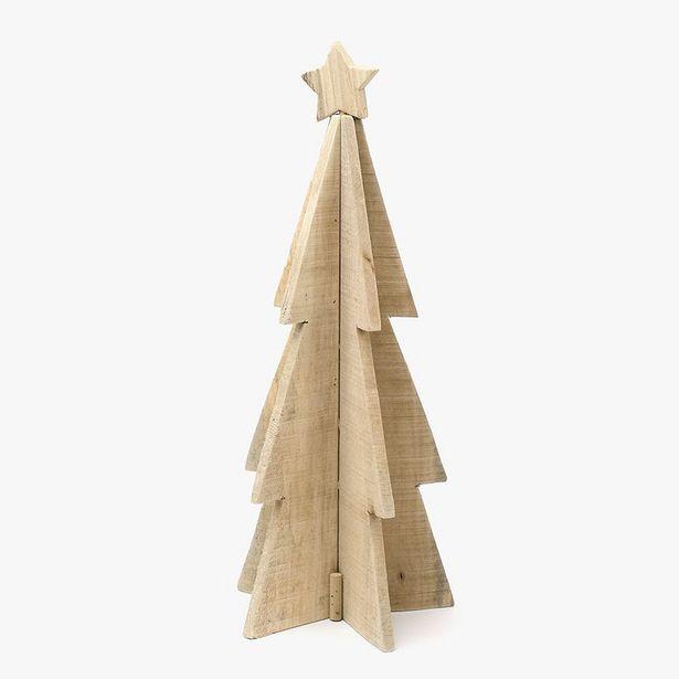 Oferta de Árbol de Navidad Madera 55 cm por 17,99€