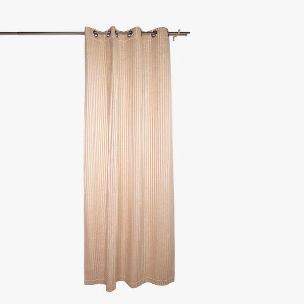 Oferta de Cortina Stella Raya Beige 135x270 cm por 89,99€