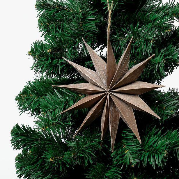 Oferta de Decoración navideña Estrella Papel 20 cm por 1,5€