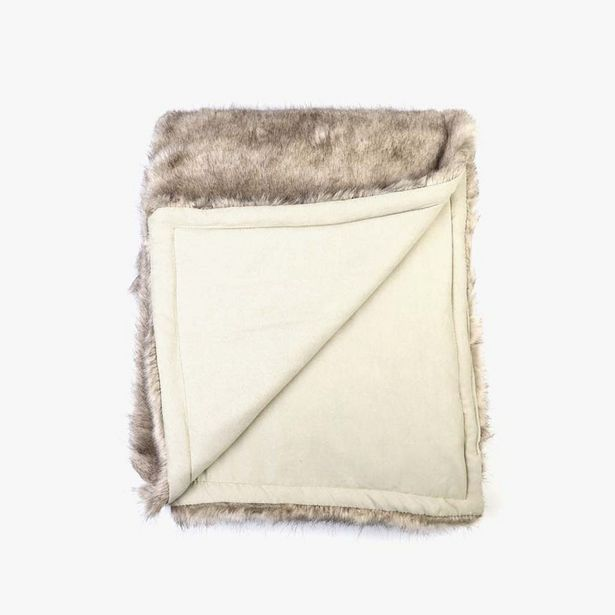 Oferta de Manta Pelo Marrón 240x260 cm por 189€