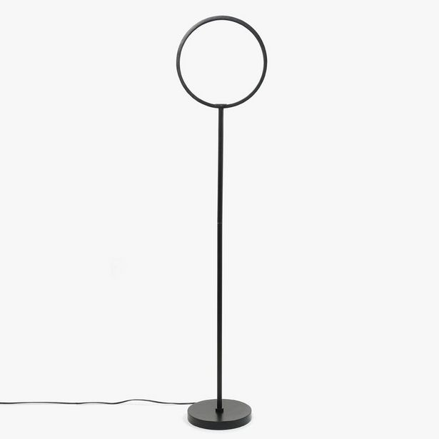 Oferta de Lámpara de Pie Circle Negro LED por 119,99€