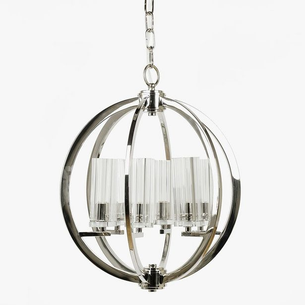 Oferta de Lámpara de araña Arcos 6 Luces Plata D: 40cm por 159,2€