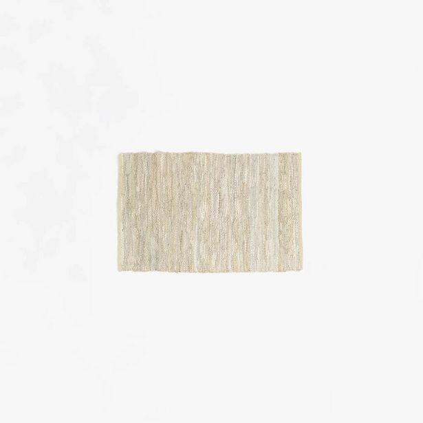 Oferta de Alfombra Tear Piel Beige 70x110 cm por 15,95€