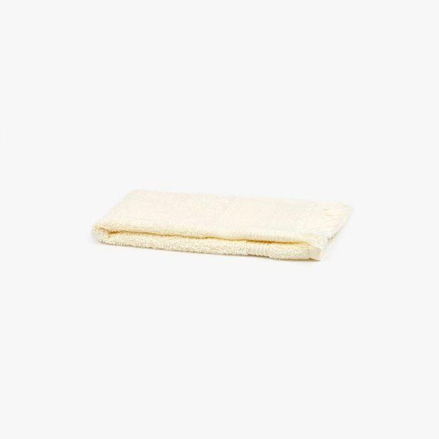 Oferta de Toalla de Baño con Flecos Beige 30x50 cm por 1,99€