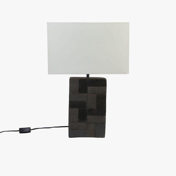 Oferta de Lámpara de Mesa Geo Terracota Negro por 95,2€