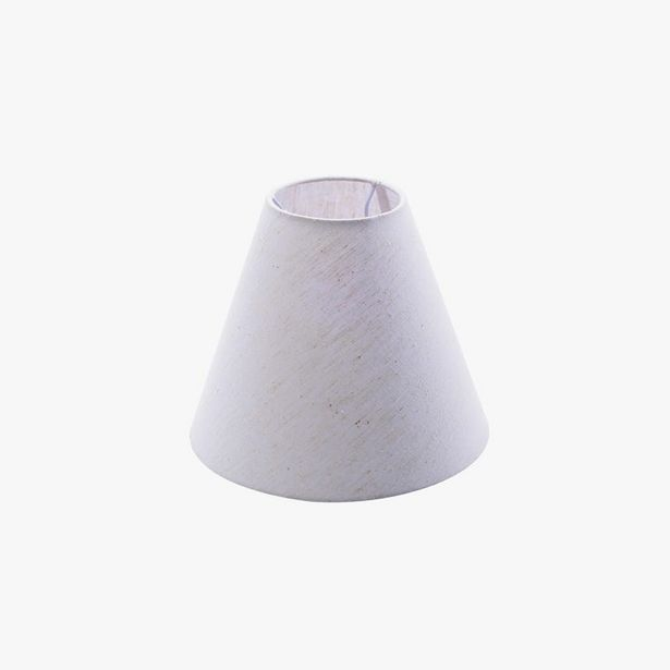 Oferta de Pantalla Slub Blanco 25x21 cm por 14,99€