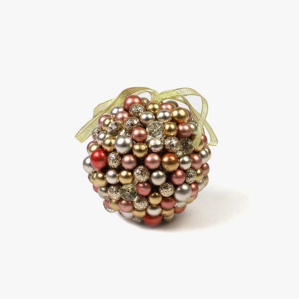 Oferta de Bola Bayas Rosa y Oro 11,5 cm por 7,99€