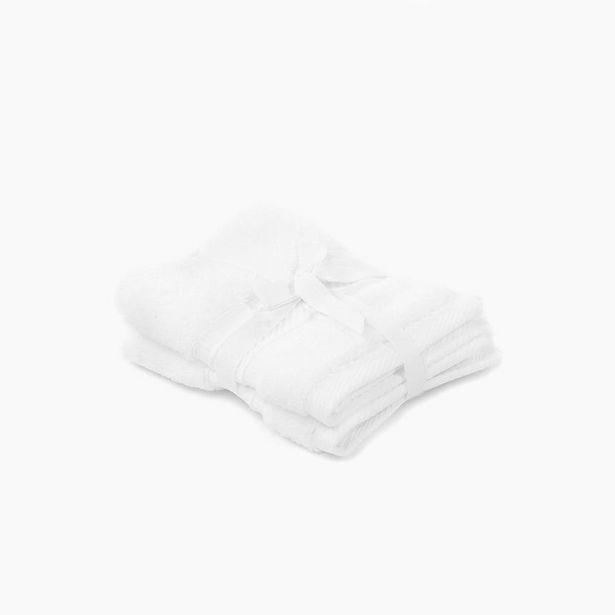 Oferta de Toalla de Tocador 5BathStars Blanco 30x30 cm (juego 2) por 5,99€