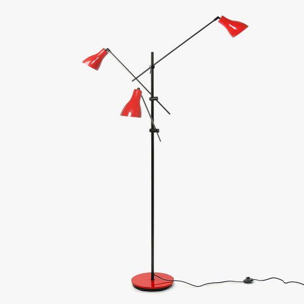 Oferta de Lámpara de Pie Wadin 3 Luces Rojo por 129,99€