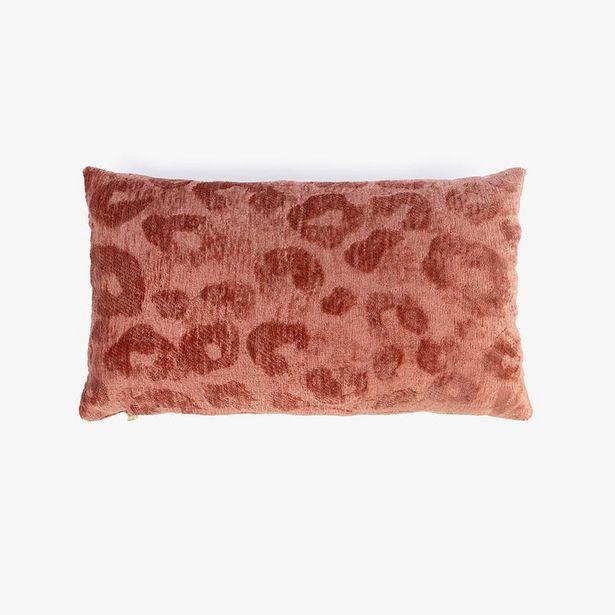 Oferta de Funda Cojín Jungle fever Leopardo Rosa 30x50 cm por 12,99€