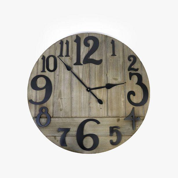 Oferta de Reloj de Pared Madera 78 cm por 74,99€