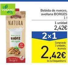 Oferta de Bebida de nueces avellana BORGES por 2,42€
