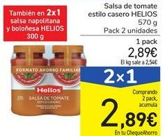 Oferta de Salsa de tomate estilo casero HELIOS por 2,89€