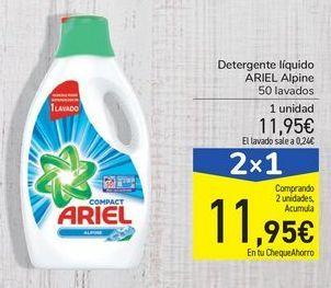 Oferta de Detergente liquido ARIEL Alpine por 11,95€