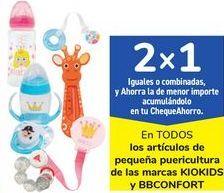 Oferta de En TODOS los artículos de peuqeñas puericulatra de las marcas KIOKIDS y BBCONFORT por