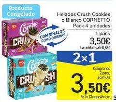 Oferta de Helados Crush Cookies o Blanco CORNETTO por 3,5€