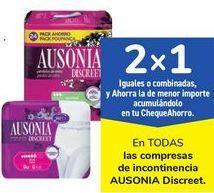 Oferta de En TODAS las compresas de incontinencia AUSONIA Discreet  por