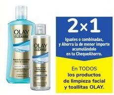 Oferta de En TODOS los productos de limpieza facial y toallitas OLAY por