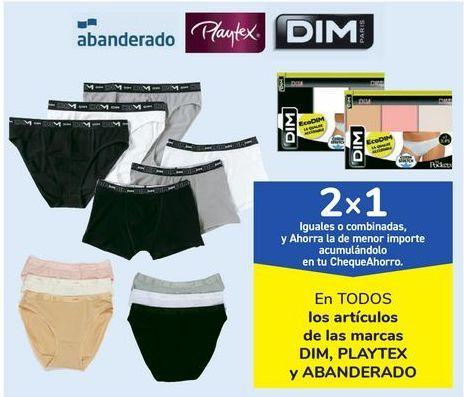 Oferta de En TODOS los artículos de las marcas DIM, PLAYTEX y ABANDERADO por