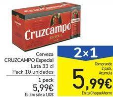 Oferta de Cerveza CRUZCAMPO Especial  por 5,99€