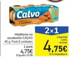 Oferta de Mejillones en escabeche CALVO por 4,75€