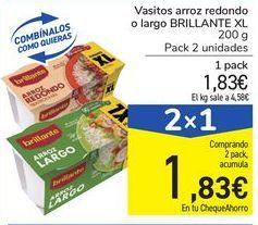 Oferta de Vasitos arroz redondo o largo BRILLANTE XL por 1,83€