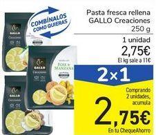 Oferta de Pasta fresca rellena GALLO Creaciones por 2,75€