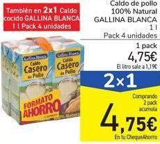 Oferta de Caldo de pollo 100% Natural GALLINA BLANCA por 4,78€