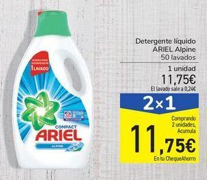 Oferta de Detergente liquido ARIEL Alpine por 11,75€