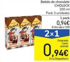Oferta de Batidos de chocolate Choleck por 0,94€