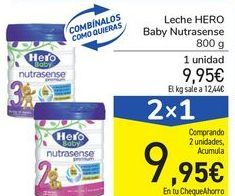 Oferta de Leche HERO Baby Nutrasense por 9,95€
